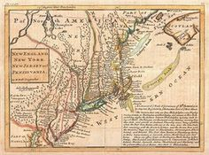 1729 Moll Map of New York, New England, and Pennsylvania (First Postal Map of New England). Herman Moll's 1729 map of New England and the adjacent colonies. The map shows few signs of indigenous presence, but a reference to the Iroquois is seen to the far left. Photograph: Wikimedia