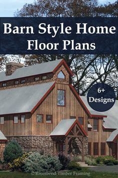 Have you considered timber framing for your custom barn home? Look through designs that showcase how timber framing can create the barn atmosphere you're looking for. Barn Homes Floor Plans, House Floor Plans, Custom Home Designs, Custom Homes, Timber House, Classical Architecture, Log Homes, Garage, House Ideas