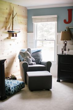 Ship Wrecked: Nautical Boys Nursery + Oh That Cosy Corner The Napping House, Nursery Inspiration, Nursery Ideas, Cosy Corner, Nautical Nursery, Crib Mattress, Nursery Design, Boy Room, Living Spaces