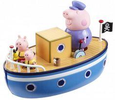 Пеппа, Джордж и их дедушка отправляются в плавание на борту пиратского корабля. Здесь есть все, что им может пригодиться в путешествии: капитанская рубка, ведерко с тряпкой, чтобы драить палубу, рында, крюк с лебедкой, иллюминаторы и, конечно, пиратский флаг. Свинки могут сходить на...