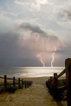 lightning storm over the ocean | nature + weather photography