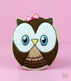 Birthday Party Owl Cookie Favour