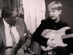 BB King and young Joe Bonamassa. .....watch the video of these guys playing together, BB is blown away