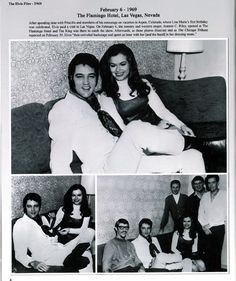 This is Elvis visiting country and western singer Jeannie C. Riley backstage at the Flamingo Hotel in Las Vegas, NV on Thursday, February 6, 1969. She had a huge hit with Harper Valley PTA, going to number one on both the Billboard Pop and Country charts in September-October 1968. Listen to her song: https://www.youtube.com/watch?v=aOZPBUu7Fro (This is page 6 from the book The Elvis Files Vol. 5 1969 - 1970 by Erik Lorentzen. See more: http://www.elvisfiles.no/theelvisfiles5.html)