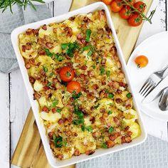 Polish Recipes, Polish Food, Potato Casserole, Cheddar, Vegetable Pizza, Quiche, Food Porn, Food And Drink, Potatoes