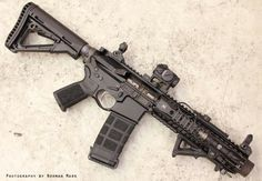 Super sweet Spikes Tactical SBR with Spikes free float handguard, Magpul flaming pig muzzle, Magpul CTR stock, Magpul MOE grip and PMag with grip tape. It's ruining an AimPoint micro. Military Weapons, Weapons Guns, Guns And Ammo, Tactical Rifles, Firearms, Shotguns, Handgun, Armas Airsoft, Winchester