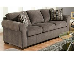 Transitional Sofa In Gray   Sam Levitz Furniture