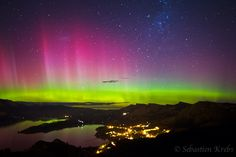 Aurora Australis - Governors Bay, Christchurch, Canterbury, New Zealand Must see
