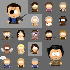 'The Walking Dead' characters meet 'South Park' styling