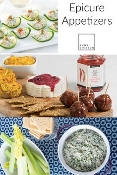 Are you looking for some quick appetizers for a delicious pre-dinner? Or having a party where you aren't serving a full meal but want to have some snacks on han Quick Appetizers, Easy Appetizer Recipes, Dinner Recipes, Epicure Recipes, Lemon Recipes, Epicure Steamer, Gluten Free Snacks, Steamers, Direct Sales