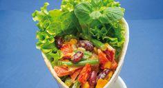 Wrap de legumes