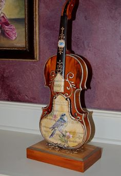 The Art of Toni Kelly: Art of the Violin...finished Front of the violin.