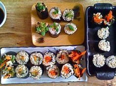How to Make Macrobiotic Maki/Sushi Rolls #vegan