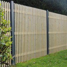 Panneau Trevise 180 x 180 cm - Lattes verticales - autoclave - So Garden