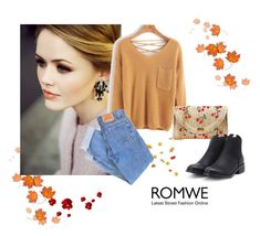 """""""Romwe 55"""" by zerina913 ❤ liked on Polyvore featuring Levi's and romwe"""