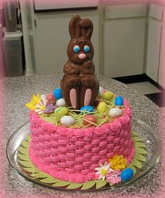 Easter Cake using easter candy.