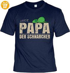 Vater Sprüche Tshirt - cooles für Papa : zzzz… Papa der Schnarcher -- Geschenk T-Shirt Vatertag Geburtstag Gr: M (*Partner-Link)
