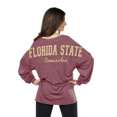aa2701c4ac Game Day Fashion · Florida State Seminoles Varsity Jersey - Chicka-d  Clothing Garnet And Gold