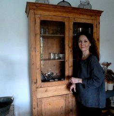 Me at home wearing one of Marlen's beautiful linen tops    http://www.tm.ee/index.php/en/marlen/1686-hall