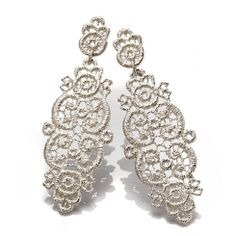 silver earrings - Brigette Aldolph