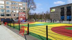 Even langs Rotsoord gereden om een afbeelding van de door ons geleverde multi sportkooi te maken.