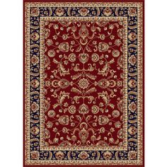 Tayse Sensation Rectangular Red Floral Woven Area Rug (Common: 8-ft x 10-ft; Actual: 7.833-ft x 10.25-ft)