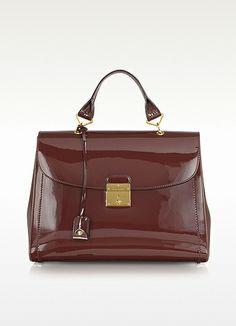 7c1d1d4f230a7 Marc Jacobs The 1984 Chestnut Patent Leather Satchel