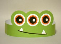 3-Eyed Monster Paper Crown - Printable