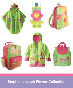 Blooming with cuteness! Back to school shopping just got easier. #flowers #backtoschool #raincoat #cutebags #stephenjoseph