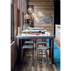Reclaimed wood + iron - urban Industrial. I'd love this for the house!!