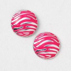 Zebra Stud Earrings | Claire's