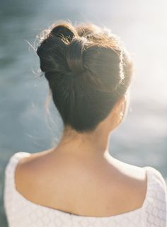Bow updo ~ photo by Jen Huang