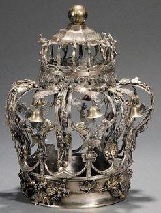 Antique silver torah crown