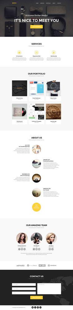 Ressource – 10 templates de site en PSD et gratuits