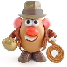 "Taters of the Lost Ark! When you push down on his hat the ""Indiana Jones"" theme song plays.  I have this one!"