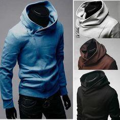 de masculino moda jaquetas próprias escassas hoodie casaco de casaco de abrigo - R$56.26