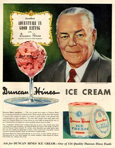 Old Advertising: Duncan Hines Ice Cream
