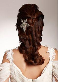 Hair inspiration #bridal #braided #hairstyles