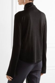 Chloé - Wool, Silk And Cashmere-blend Turtleneck Sweater - Black - x large