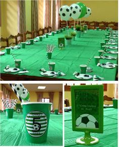 ideas de fiestas tematicas de futbol Mercadolibre Sports Themed Birthday Party, Soccer Birthday Parties, Soccer Party, Sports Party, Boy Birthday, Football Crafts, Football Themes, Soccer Decor, Soccer Banquet