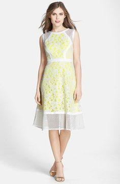 Julia Jordan Eyelet Trim Lace Fit & Flare Dress available at #Nordstrom via @jseverydayfash
