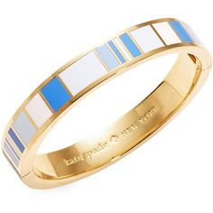 Kate Spade New York Idiom Work Wonders Bangle Bracelet ($39) ❤ liked on Polyvore featuring jewelry, bracelets, blue, blue bangle bracelet, hinged bangle, blue jewelry, enamel bangle and kate spade bangle