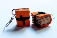 Orecchini libro, riciclo creativo di ManiPrecise su Etsy