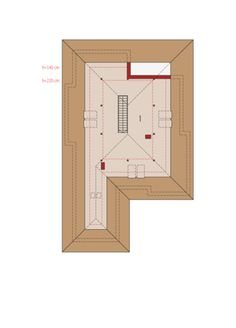 Liv 3 Poddasze do adaptacji House Design Pictures, Bungalow House Design, Hallway Lighting, Home Projects, My House, House Plans, Floor Plans, How To Plan, Case