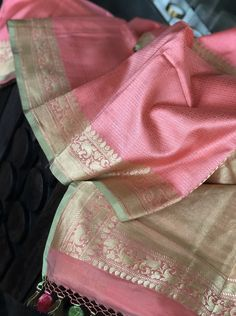Code: Type: Tanchoi Silk Benarasi Color: Salmon Pink, Pista Green, Antique Golden Zari Description: Intricate resham Tanchoi Weave throughout the resham base, Antique Zari border in posts green and pallu Blouse Piece: Yes, Running Fall and Pico: Yes Silk Saree Kanchipuram, Chanderi Silk Saree, Organza Saree, Blue Silk Saree, Indian Silk Sarees, Soft Silk Sarees, Trendy Sarees, Fancy Sarees, Designer Blouse Patterns
