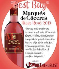 Marques de #Caceres Rioja Rosé 2013 - BEST BUY - Wine Enthusiast