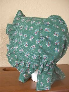Free pattern: Romantic History Historical Clothing: Little House on the Prairie Sunbonnet