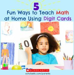 Make a set of digit cards and play these fun math activities with your child all summer long.