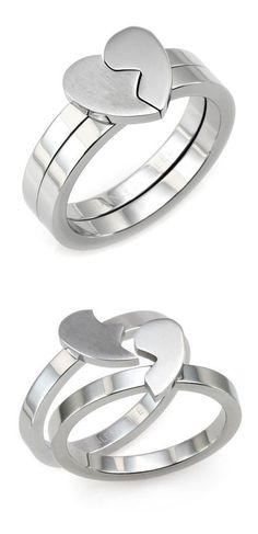 Best Friends Heart Ring Set <3 SO cUte! #anniversary #bff #love