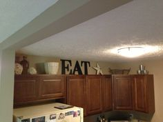 Tops of kitchen cabinets!